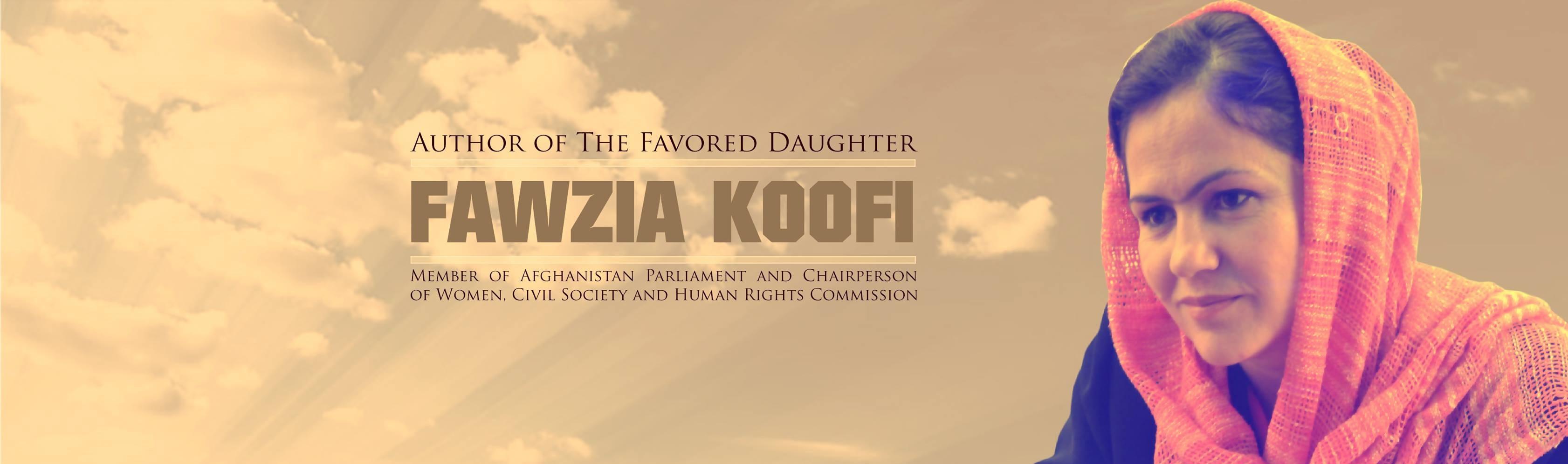 Fawzia Koofi Afghan Lawmaker